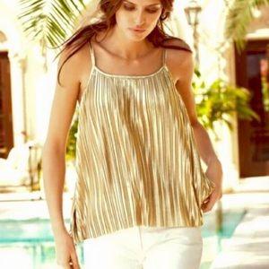 H&M beutiful gold blouse.